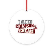Bleed Crimson Cream Ornament (Round)