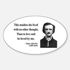 Edgar Allan Poe 13 Oval Decal