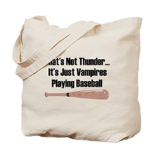 Vampire Baseball Tote Bag
