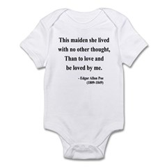 Edgar Allan Poe 13 Infant Bodysuit
