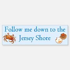 Follow me to the Jersey Shore Bumper Bumper Bumper Sticker