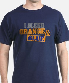 Bleed Orange Blue T-Shirt