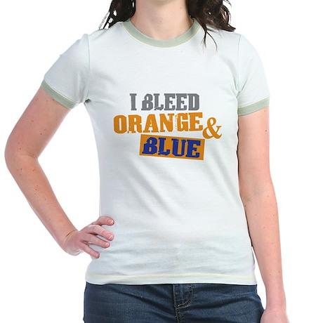 Bleed Orange Blue Jr. Ringer T-Shirt