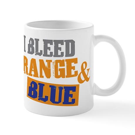 Bleed Orange Blue Mug