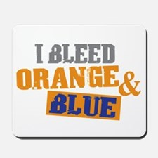 Bleed Orange Blue Mousepad