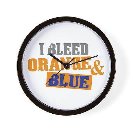 Bleed Orange Blue Wall Clock