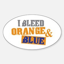 Bleed Orange Blue Oval Decal