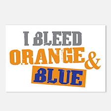 Bleed Orange Blue Postcards (Package of 8)