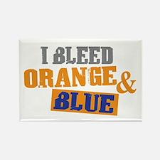 Bleed Orange Blue Rectangle Magnet