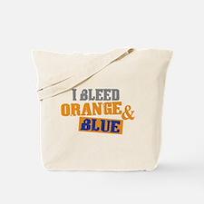Bleed Orange Blue Tote Bag