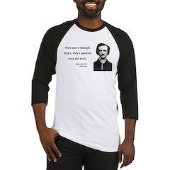 Edgar Allan Poe 14 Baseball Jersey