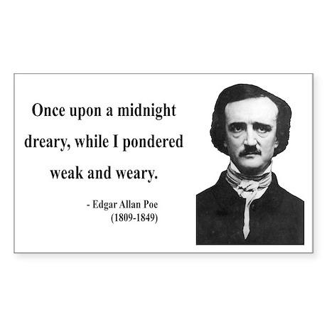 Edgar Allan Poe 14 Rectangle Sticker