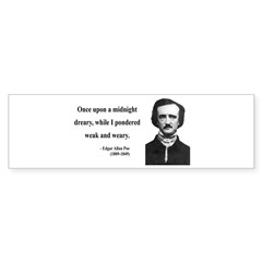 Edgar Allan Poe 14 Bumper Bumper Sticker