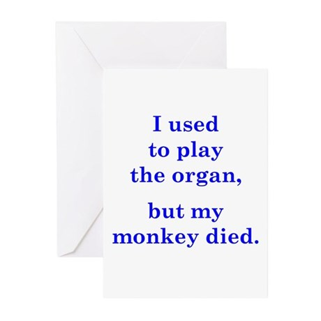 I used to play the organ Greeting Cards (Pk of 10)