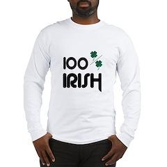 100 % IRISH Long Sleeve T-Shirt