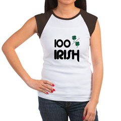 100 % IRISH Women's Cap Sleeve T-Shirt