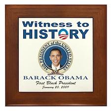 President Obama first black president Framed Tile