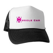 Retro Muscle Car Stripe-Pink- Trucker Hat