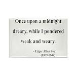 Edgar Allan Poe 14 Rectangle Magnet (100 pack)