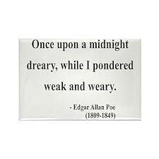 Edgar Allan Poe 14 Rectangle Magnet