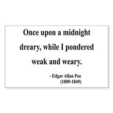 Edgar Allan Poe 14 Rectangle Decal