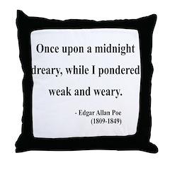 Edgar Allan Poe 14 Throw Pillow
