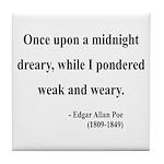 Edgar Allan Poe 14 Tile Coaster