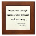 Edgar Allan Poe 14 Framed Tile