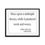 Edgar Allan Poe 14 Framed Panel Print