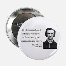 """Edgar Allan Poe 15 2.25"""" Button"""