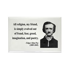 Edgar Allan Poe 15 Rectangle Magnet