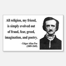 Edgar Allan Poe 15 Rectangle Decal