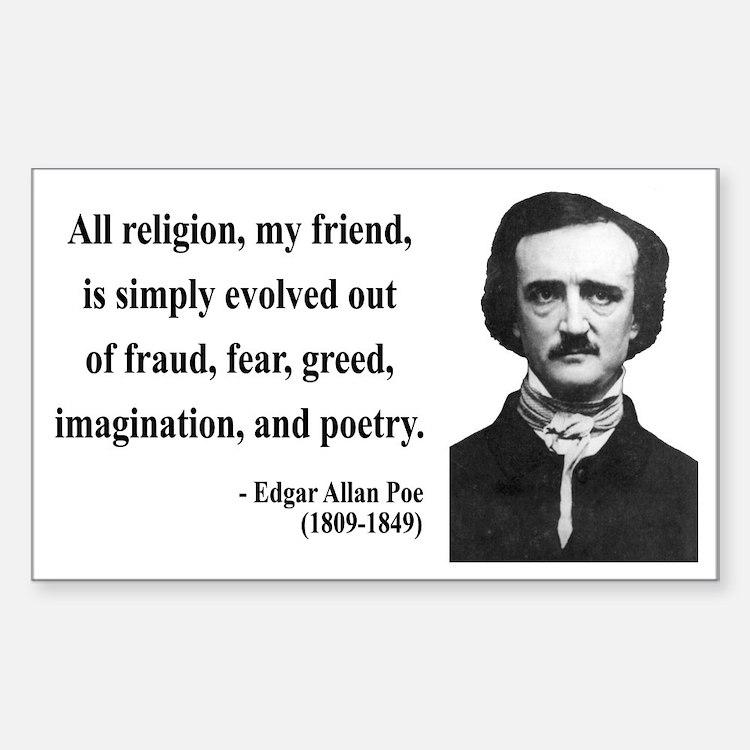 Edgar Allan Poe 15 Rectangle Decal