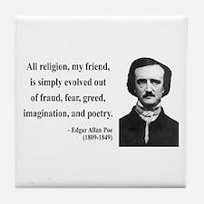 Edgar Allan Poe 15 Tile Coaster