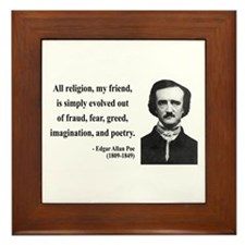 Edgar Allan Poe 15 Framed Tile