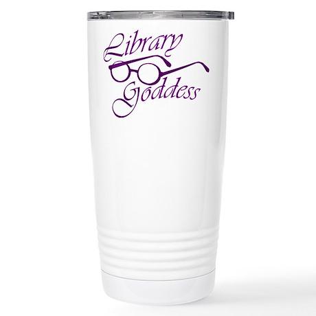 Library Goddess Stainless Steel Travel Mug