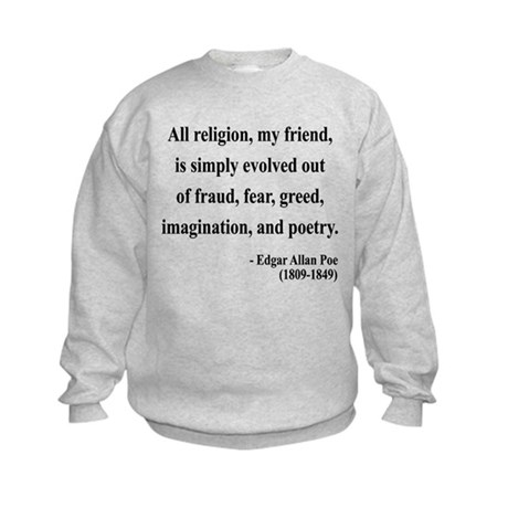 Edgar Allan Poe 15 Kids Sweatshirt