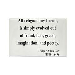 Edgar Allan Poe 15 Rectangle Magnet (100 pack)