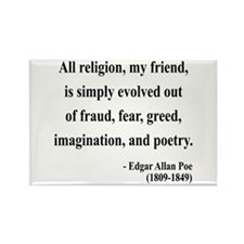 Edgar Allan Poe 15 Rectangle Magnet