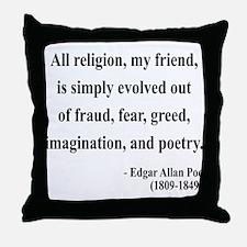 Edgar Allan Poe 15 Throw Pillow