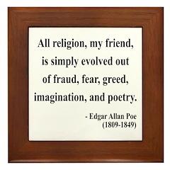 Edgar Allan Poe 15 Framed Tile