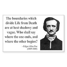 Edgar Allan Poe 16 Rectangle Decal