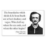 Edgar Allan Poe 16 Rectangle Sticker