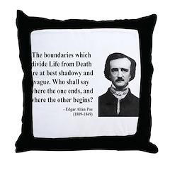 Edgar Allan Poe 16 Throw Pillow