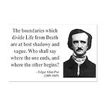 Edgar Allan Poe 16 Mini Poster Print