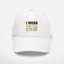 I Wear Gold Sister Baseball Baseball Cap