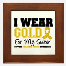 I Wear Gold Sister Framed Tile