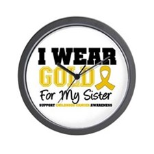 I Wear Gold Sister Wall Clock