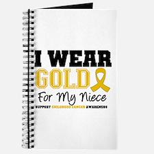 I Wear Gold Niece Journal