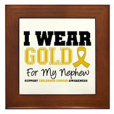 I Wear Gold Nephew Framed Tile